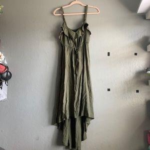 Torrid OLIVE HI-LO MAXI DRESS sz. 0